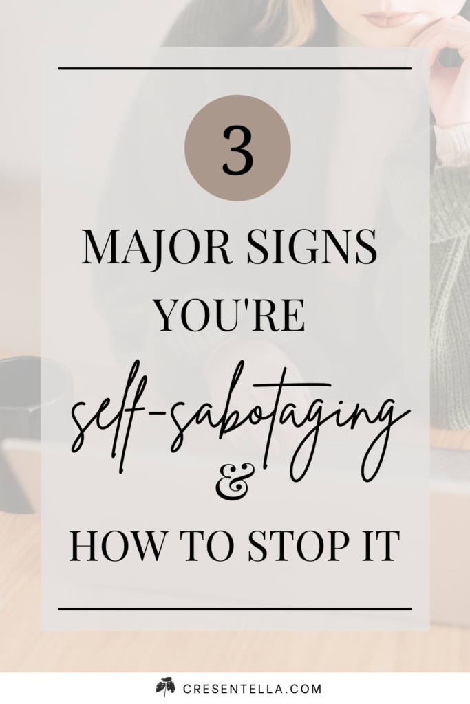Are you aware that you're self-sabotaging? Most of us don't even know what is self-sabotage. That's why today, we'll talk about it! Read this article to learn many facts about self-sabotage, why we self-sabotage, and the MAJOR signs you're self-sabotaging, which is driving you away from your goals! Once you know all of these, I'm going to help you stop it! #signsofselfsabotage #selfsabotage #howtostopselfsabotage ┃journal prompts for self-sabotage ┃why do we self-sabotage