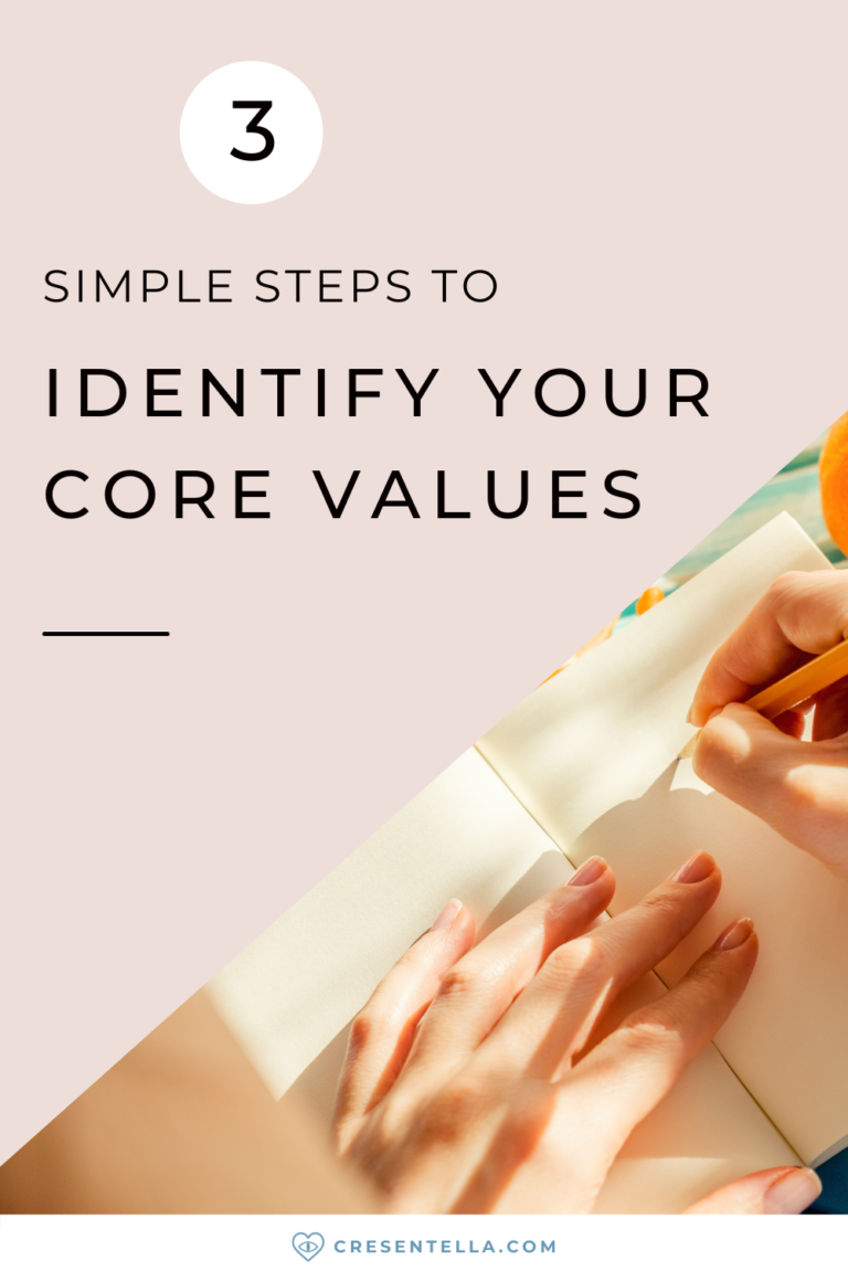 Identifying your core values is the most important thing to do before creating life choices. In this post, You will learn to identify your core values in just three simple steps. These are; knowing your top 5 core values, asking yourself questions, and testing your core values. Identifying your values takes some deep self-reflection and observation, but you can always start small. Read the blog post to learn more! | personal values list | beliefs and values | finding purpose in life